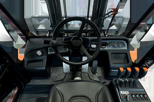 D70S-7 non-kippbare Fahrerkabine